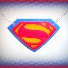 Superman Symbol Logo Emblem Pendant Necklace, Super Girl, Super Woman Cosplay