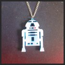 R2D2 Pendant Necklace Artoo R2 Series Astromech Droid Star Wars Fangirl Cosplay
