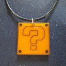 Super Mario Bros Question ? Mystery Block Pendant Necklace Gamer Style SMB