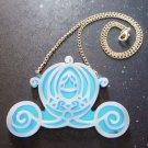 Cinderella's Carriage Pendant Necklace Pumpkin Coach Choice Blue