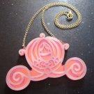 Cinderella's Carriage Pendant Necklace Pumpkin Coach Choice Pink