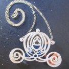 Cinderella's Carriage Pendant Necklace Pumpkin Coach Choice Silver