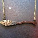 Harry Potter Broomstick Nimbus 2000 & Quidditch Pendant Necklace Cosplay