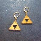 Legend of Zelda Golden Lever Back Mirrored Gold Acrylic Earrings Small Lightweight Dangle
