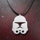 Star Wars Clone Troopers Phase 2 Helmet Necklace White Acrylic Cosplay ARC Trooper Captain Rex
