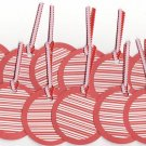 Set of 14 Peppermint Holiday Gift or Hang Tags