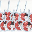 Set of 10 Snowman Gift or Hang Tags