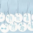 Set of 12 Snow Fun Gift or Hang Tags