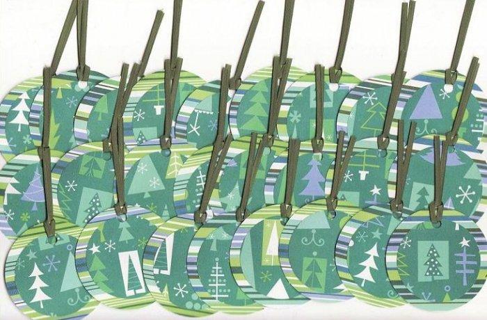 Set of 25 Shic Trees Christmas Gift or Hang Tags
