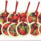 Set of 12 Stawberry Gift or Hang Tags