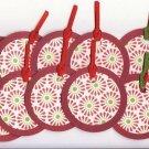 Set of 16 Retro Poinsettia Christmas Holiday Gift or Hang Tags