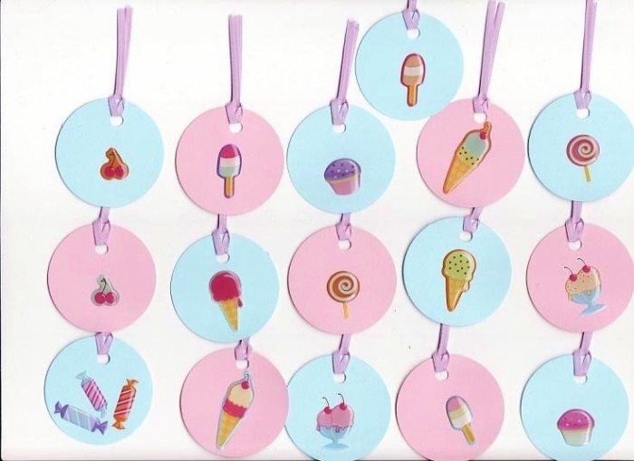 Set of 16 Sweet Treats Gift or Hang Tags