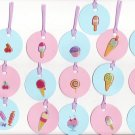 Set of 16 Sweet Treats Gift or Hang Tags