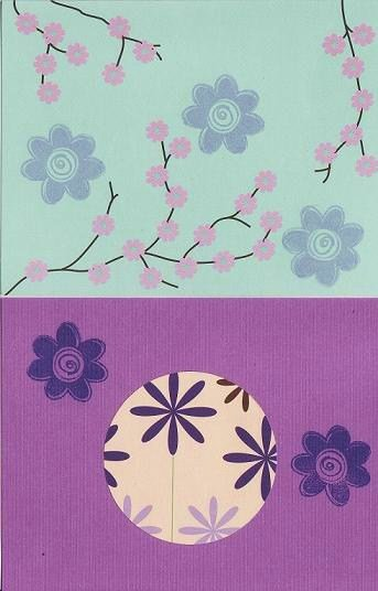 Set of 2 Abstract Art Cards With Matching Envelopes