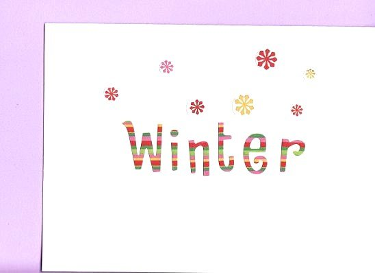 Bright Rainbow Winter Card with Matching Envelope