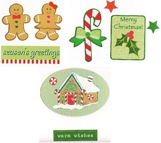 Set of 3 Christmas Holiday Greeting Cards with Envelopes