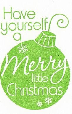 Set of 3 Green Christmas Ornament Cards with Envelopes