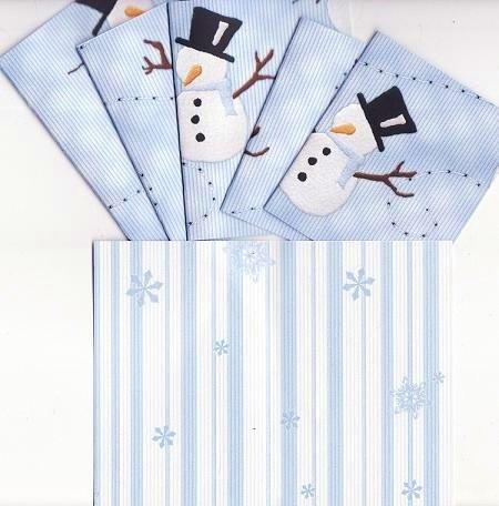 Set of 6 Snowmen Splender Cards