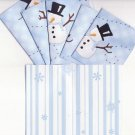 Set of 6 Snowmen Splender Cards