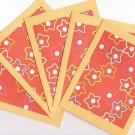 Set of 5 Orange Hawaiin Flower Cards with Envelopes