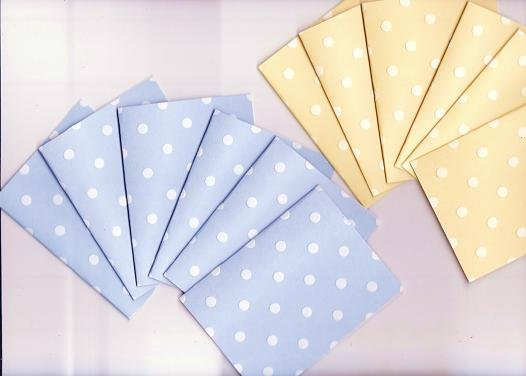 Set of 12 Pastel Polka Dot Dimensional Note Cards