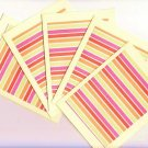 Set of 5 Bright Stripes Cards with Envelopes
