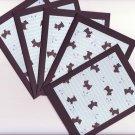 Set of 5 Black Scottie Dog Cards with Envelopes