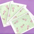 Set of 4 Pastel Poodle Cards with Envelopes