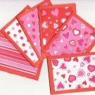 Set of 6 Multi-Patterned Valentines Day Note Cards