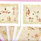 Set of 6 French Romance Cards with Envelopes