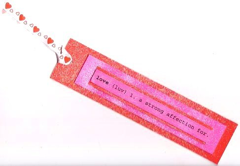 Big 4-Layered Glitter Valentines Day Gift or Hang Tag