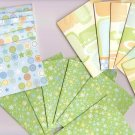 Set of 18 Bright Pastel Santa Fe Shapes Note Cards