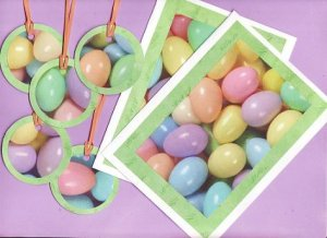 Egg Hunt Easter Cards and Gift/Hang Tags Set