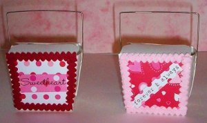 2 Valentines Day Chinese Take-Out Boxes