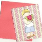 Summer Watermelon Boy Card with Envelope