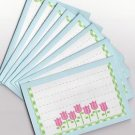 Set of 8 Tulip Garden Note Cards