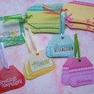 Set of 18 Travel Gift or Hang Tags