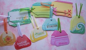 Set of 18 Travel Gift or Hang Tags