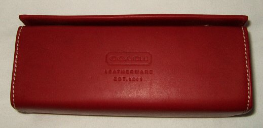 NEW AUTHENTIC COACH LEATHER LOGO SUNGLASSES GLASSES CASE RED