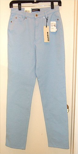 "NWT CAMBIO STRETCH LYCRA JEANS ""SHARON"" BABY BLUE STRAIGHT LEG size 6 - $175 msrp"