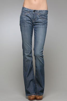 "NWT YANUK JEANS ""KISS"" BOOT CUT DARK BLUE DENIM 26 / 2"
