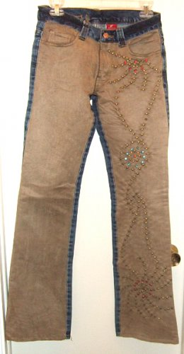 NWT WESTERN DENIM BANK EMBELLISHED JEANS like CHAPS BOOT CUT sz 27