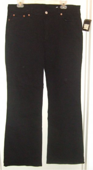 NWT LUCKY BRAND JEANS MID-RISE BOOT CUT BLACK size 33 / 16