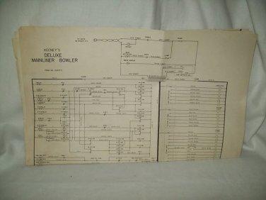 Keeney's Deluxe Mainliner Bowler Schematics Original