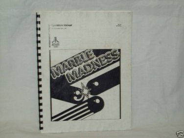 Marble Madness Arcade Game Manual Original
