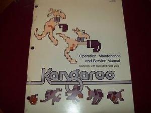 Kangaroo Operation & Service Manual Original by Atari