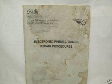 Electronic Pinball Games Repair Procedures Manual Org