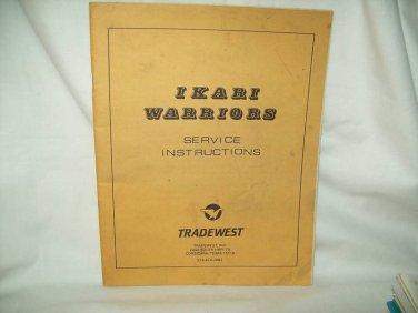 Ikari Warriors Arcade Game Manual Original