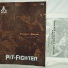 Pit-Fighter Arcade Game Manual Original