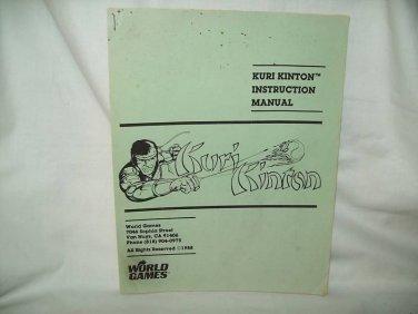 Kuri Kinton Arcade Game Manual Original